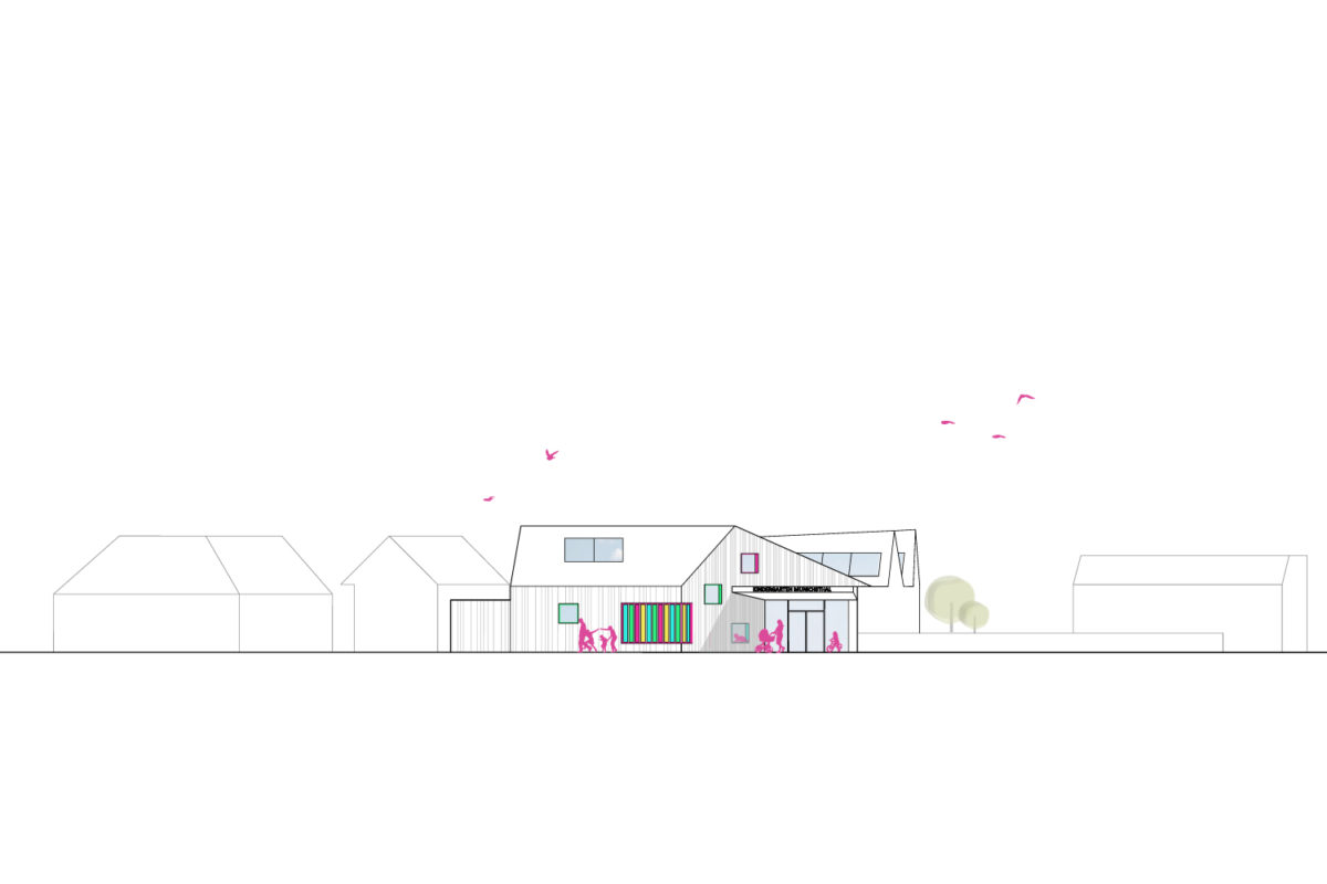 Münichsthal_Kindergarten_Ansicht-Nord-Ost_Treberspurg_Architekten