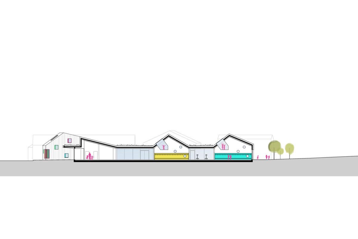 Münichsthal_Kindergarten_Schnitt1_Treberspurg_Architekten