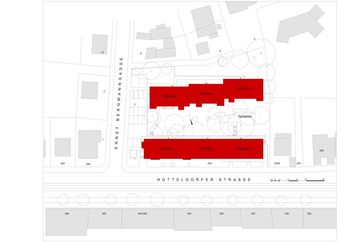 01 Treberspurg Architekten Lageplan Hütteldorfer Straße