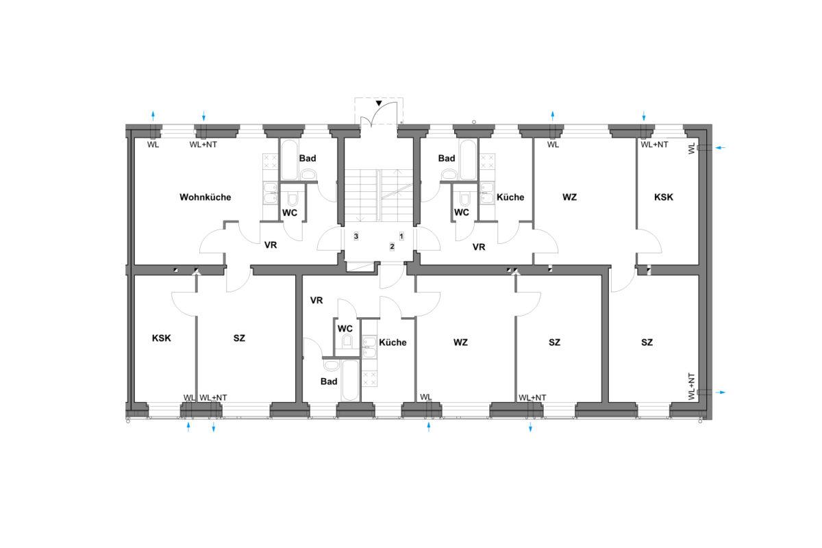 02 Treberspurg Architekten Grundiss EG Hütteldorfer Straße
