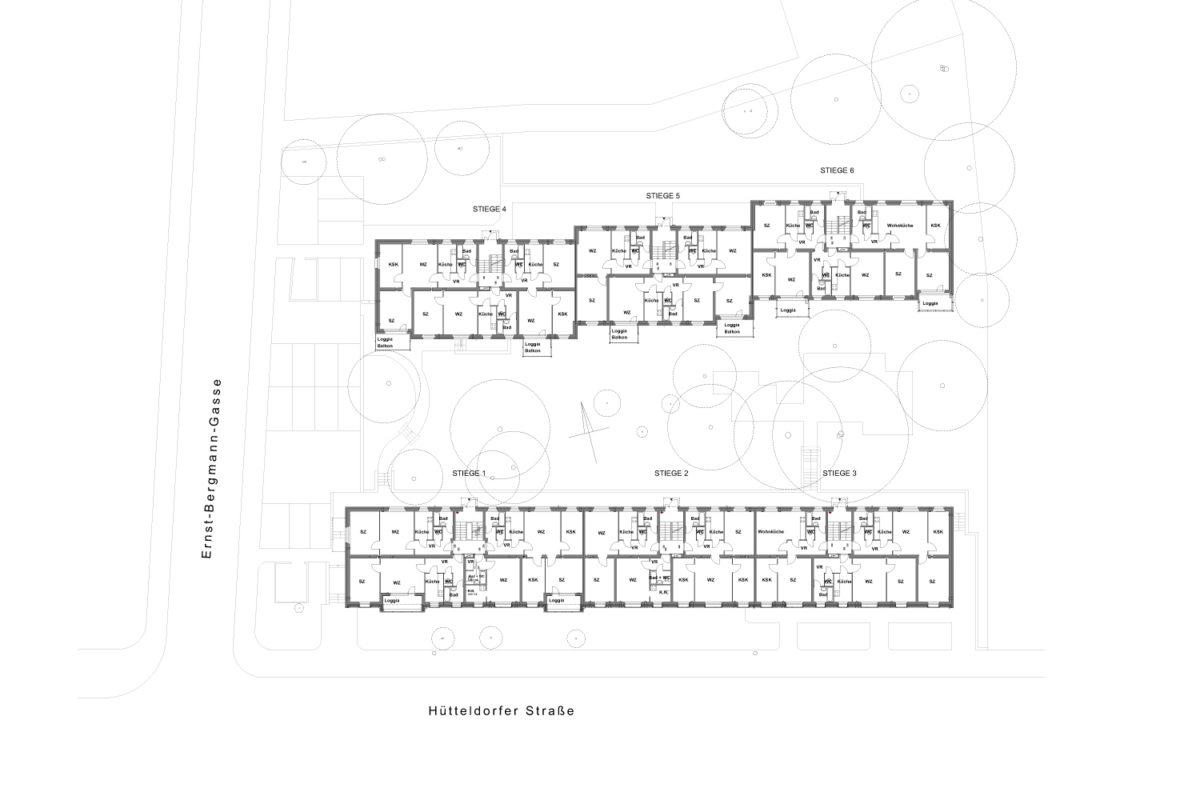 03 Treberspurg Architekten Grundiss EG Hütteldorfer Straße